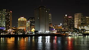USA - New Orleans by night wallpaper 1600 x 900 px